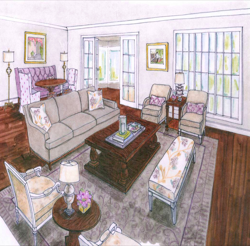 Decoratingsolutions Balm Perspectivejpg . Perspective Living Room Drawing  ...