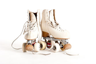 rollin skates isolated on white backgrou