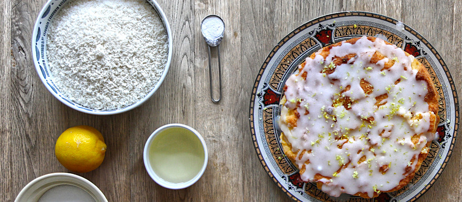 Grain-free lemon drizzle cake