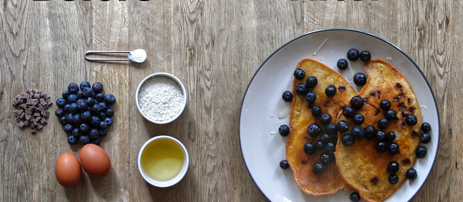 Grain-free, sugar free coconut butter pancakes