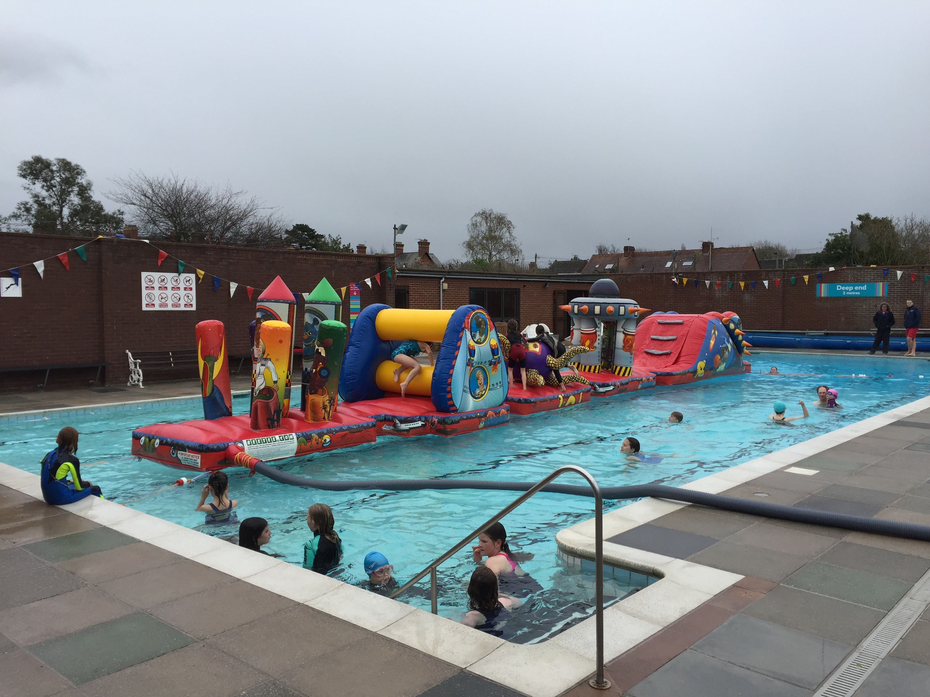 Swimmers Support Opening Weekend Topsham Outdoor Swimming Pool
