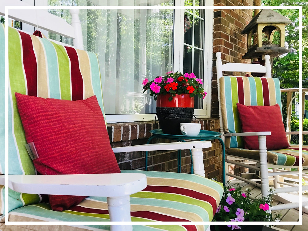 front porch summertime furniture