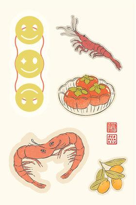 Shrimpy Sticker Sheet