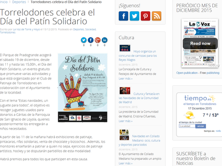 También apoyan el Día del Patín Solidario en La Voz de Torre y de Hoyo