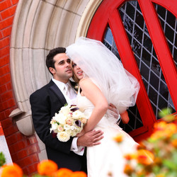 Wedding Couple in front of church