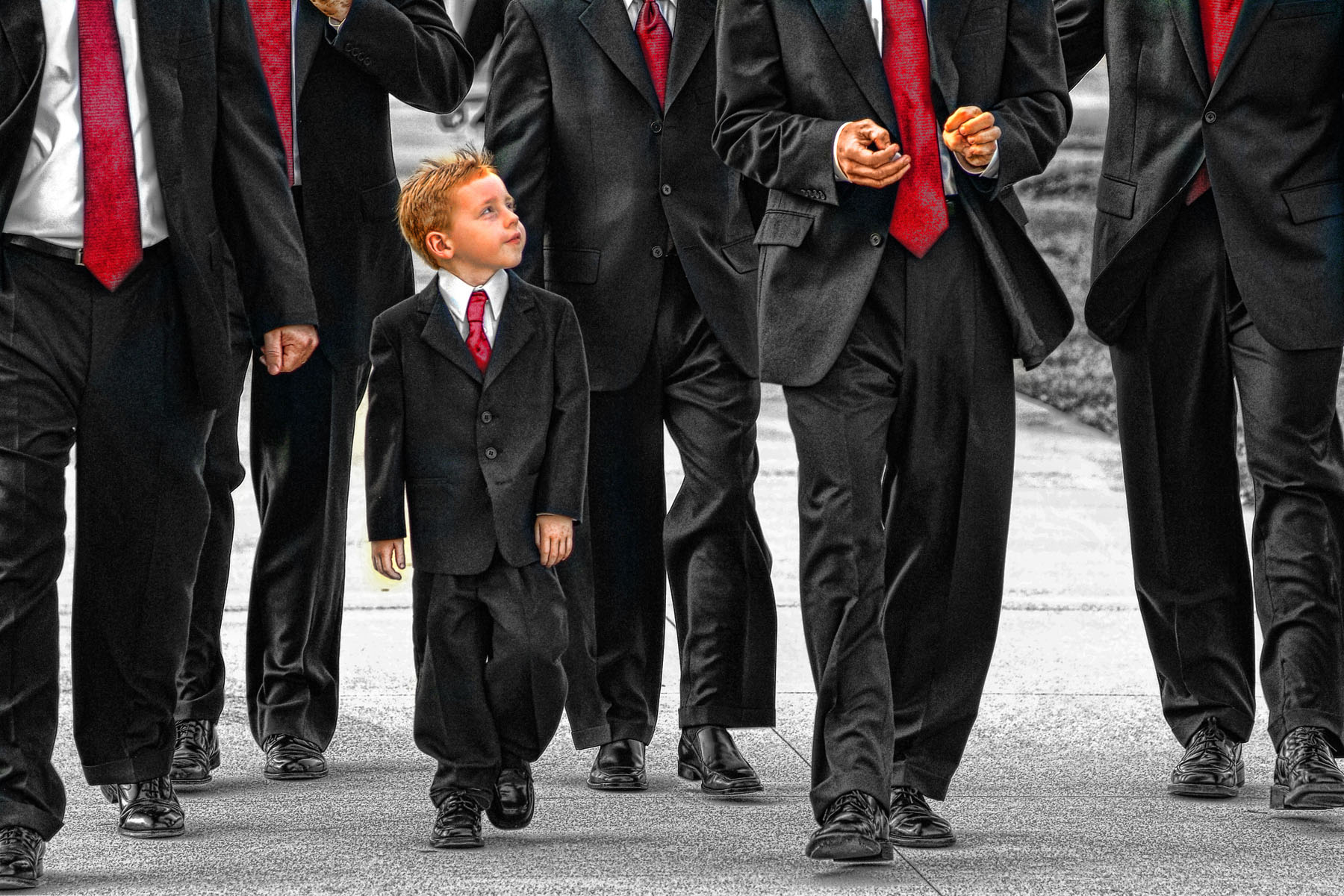 Ring Bearer with the Groomsmen