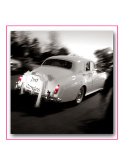 Wedding Couple in classic car