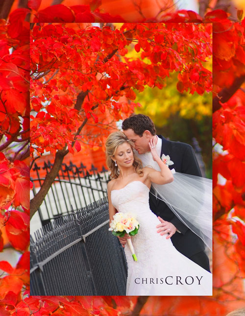 Bridal Couple in fall color