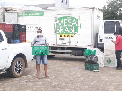 APÓS FIRMAR PARCERIA PASTORAL DA CRIANÇA RECEBE ALIMENTOS DO PROGRAMA MESA BRASIL