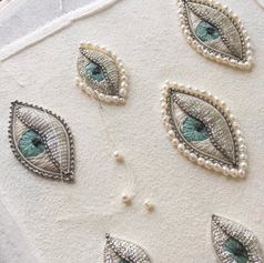 Embrodery brooches