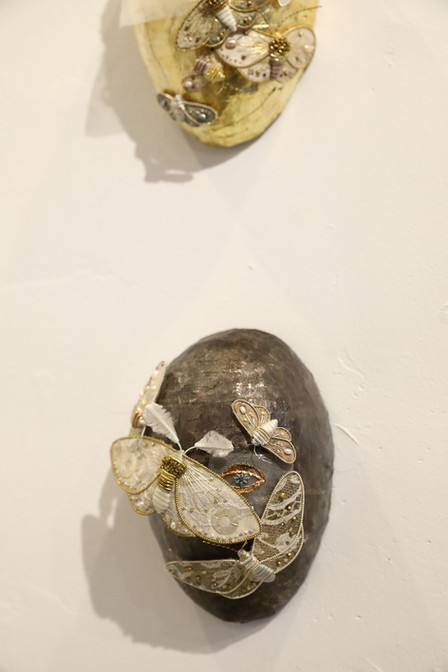 mask -gold and silver-