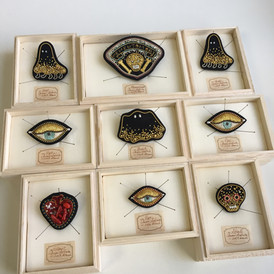 Brooches with pacage