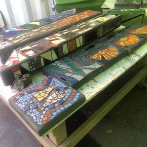 Mosaic Garden Art & Address Posts