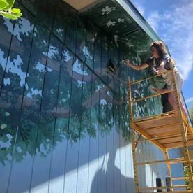 Liz Uribe Tree Mural