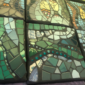 Commissioned Mosaic Stepping Stones