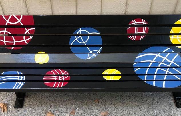 Black Bocce Bench
