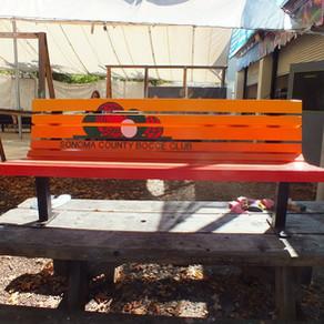 Sonoma Count Bocce Club Bench
