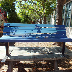 Sonoma County Bocce Club Bench