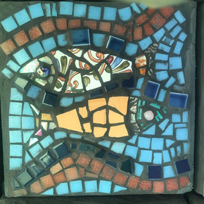 Commissioned Mosaic Stepping Stone