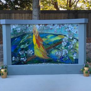Judy Sousa Mosaic Fountain Full View