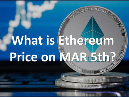 What is the Ethereum price on 2020/Mar/05? *Finished *Reward Completed