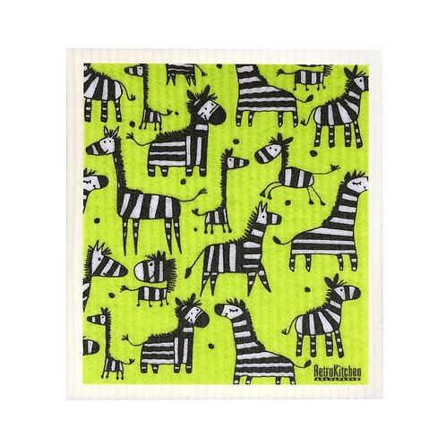 SPONGE CLOTH - Zebras