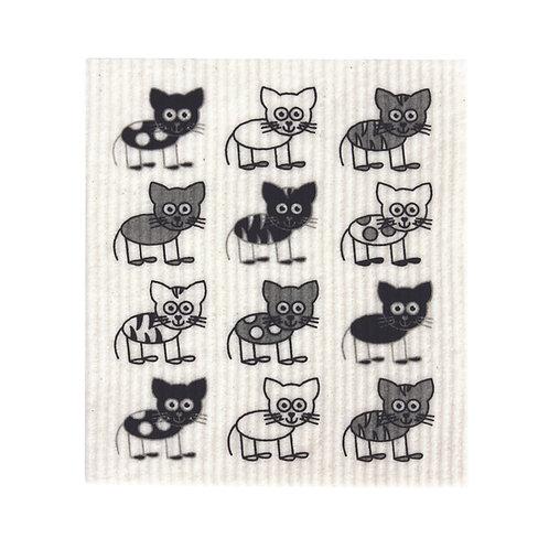 SPONGE CLOTH - Cats