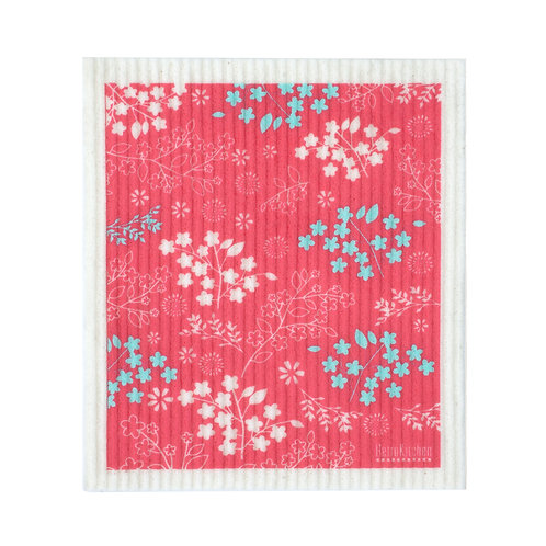 RetroKitchen compostable SPONGE CLOTH - Blossom