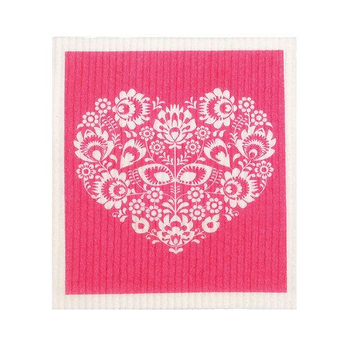 RetroKitchen compostable sponge cloth - heart