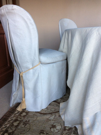 Slipcovers with Mitred Corners