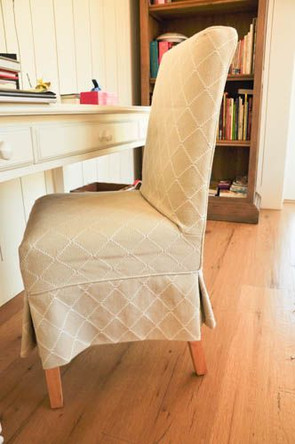 Slipcover with Tailored Skirt
