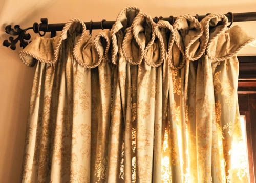 Self Valance Heading with Cord Trim