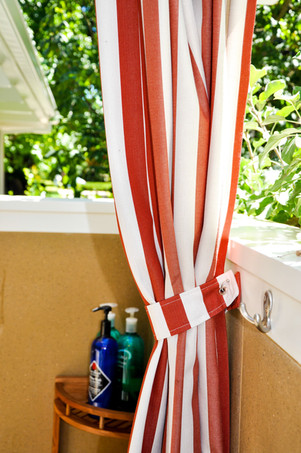 Outdoor Shower Curtain with Tieback
