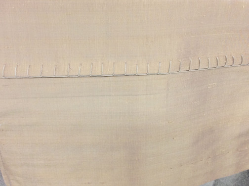 Perfect blanket stitch - all done by hand!