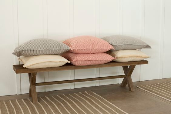 A sampling of pillows made with Magnolia Lane's Classic Naturals Collection.