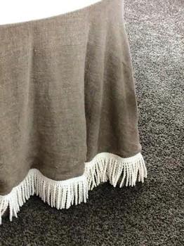 Fabric: Magnolia Lane's CNC #510 Burlap, 100% Linen, with cotton buillon trim