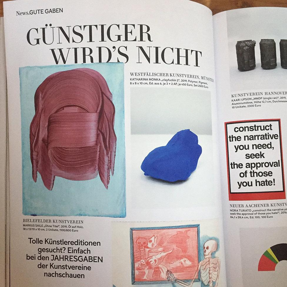 Markus Saile, Jaheresgaben Bielefelder Kunstverein @Monopol Magazin