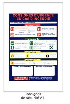 Consignes d'urgence incendie BEFPI