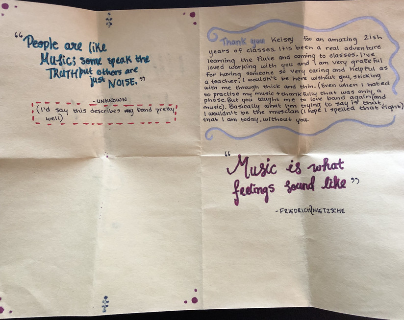 Student Thank You 5