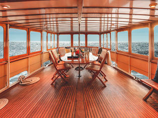 The Aft Deck - off of the salon