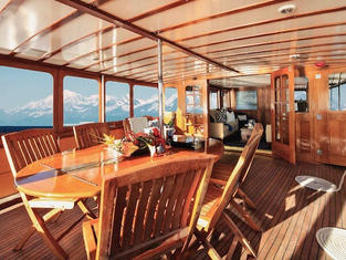 The Aft Deck -looking into the salon