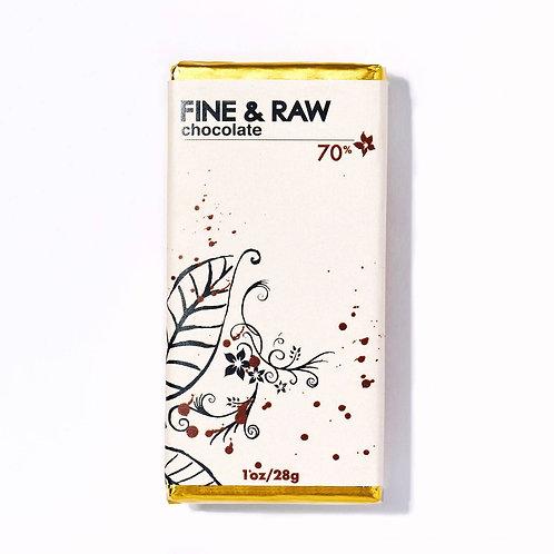 Fine & Raw: 1oz 70% Cacao Chocolate Bar
