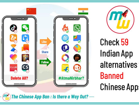 Indian Alternatives of 59 Chinese Apps