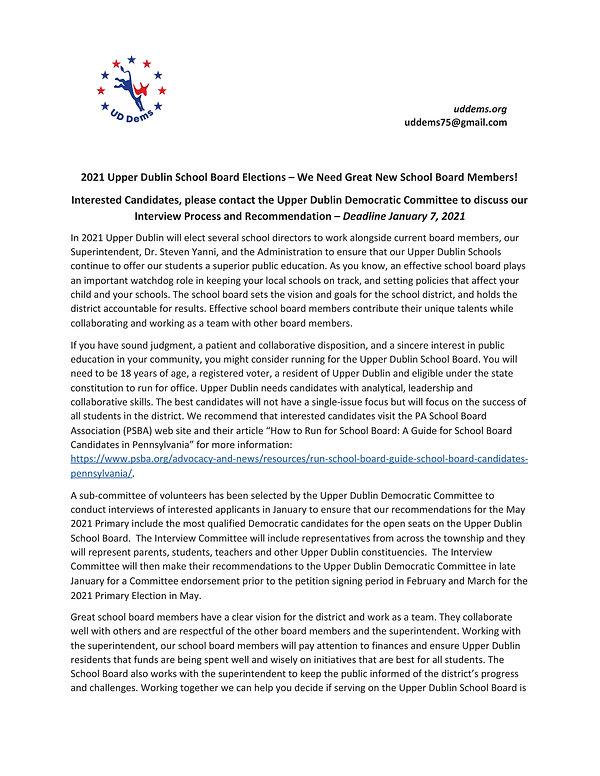 2021 School Board Elections - UDDems Pos