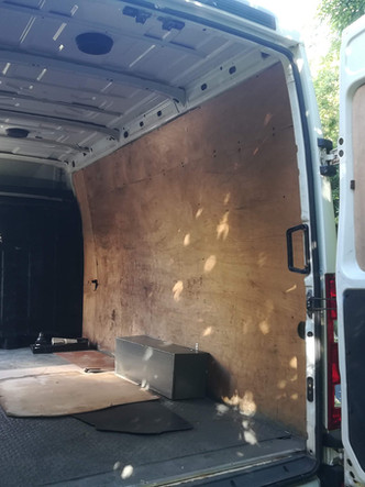 What was once an empty Ivecco van…