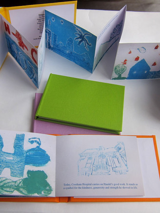 The children explored a variety of printmaking techniques and created a limited edition artist's book which tells their story of Cossham Hospital and explores their ideas on place and local distinctiveness.