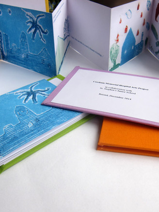 Limited edition artist's book featuring prints created by the children during the workshops