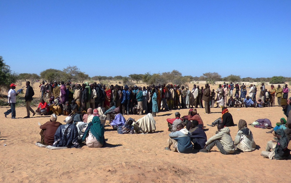 Registration of refugees arriving from Nigeria by UNHCR at Dar-es-Salam site, in Chad. Credit: OCHA/Caroline Birch, January 2015.