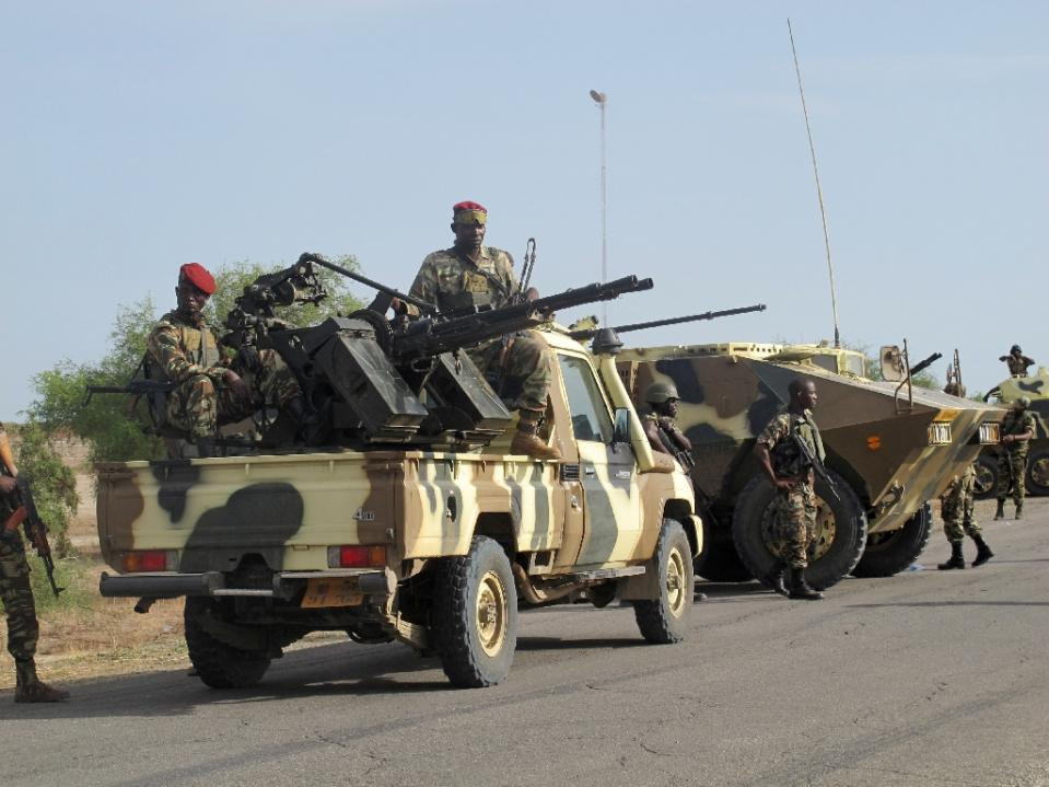 Cameroon soldiers have joined a multinational force with Niger, Chad, Benin and Nigeria to battle the Boko Harm militant group in west Africa (AFP Photo/Reinnier Kaze )