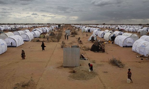 Somalis arrive at Dadaab refugee camp in July 2011. The Kenyan's government's hardline stance on the camp's closure following the Garissa University attack may be softening slightly. Photograph: Sipa Press/Rex Features